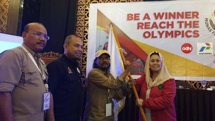 Putri Mantan Presiden RI ke-4 Gus Dur, Yenny Wahid akan menahkodai Pengurus Pusat (PP) Federasi Panjat Tebing Indonesia (FPTI) periode 2019-2023. Copyright: © HUMAS FPTI
