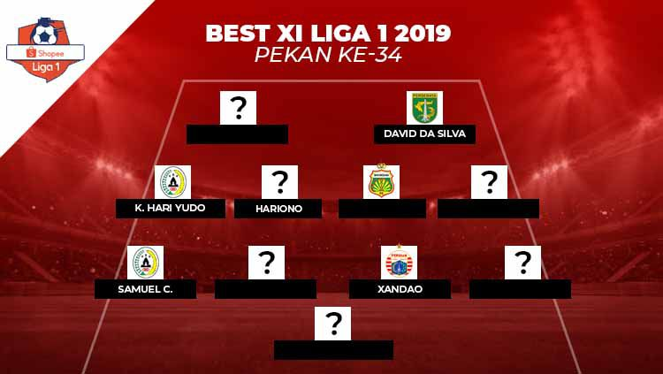 Best Starting XI Liga 1 2019 pekan ke-34. Copyright: © Grafis:Ynt/Indosport.com