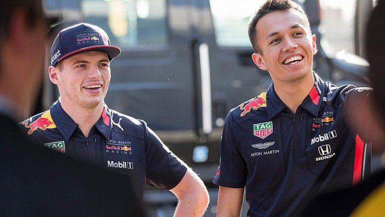 Dua pembalap Red Bull, Alexander Albon dan Max Verstappen Copyright: © Motor Sport
