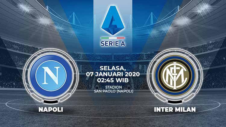 Inter Milan akan mendapatkan hadangan dari tim besar Napoli pada pertandingan pekan ke-18 Liga Italia Serie A 2019/20, yang sayangnya penuh ketimpangan. Berikut prediksi pertandingan big match tersebut. Copyright: © Grafis:Ynt/Indosport.com