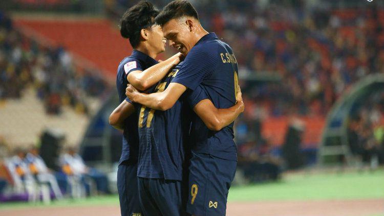 Langkah Thailand untuk meraih tiket babak semifinal Piala Asia U-23 2020 harus terhenti setelah kalah 0-1 dari Arab Saudi di perempatfinal. Copyright: © twitter.com/changsuek_th