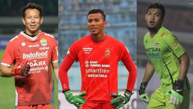Kolase tiga kiper Persib Bandung yakni Teja Paku Alam, I Made Wirawan, dan M, Natshir. Copyright: © INDOSPORT