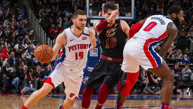 Laga NBA antara Cleveland Cavaliers vs Detroit Pistons, Jumat (10/01/20). Copyright: © Dave Reginek/Getty Images