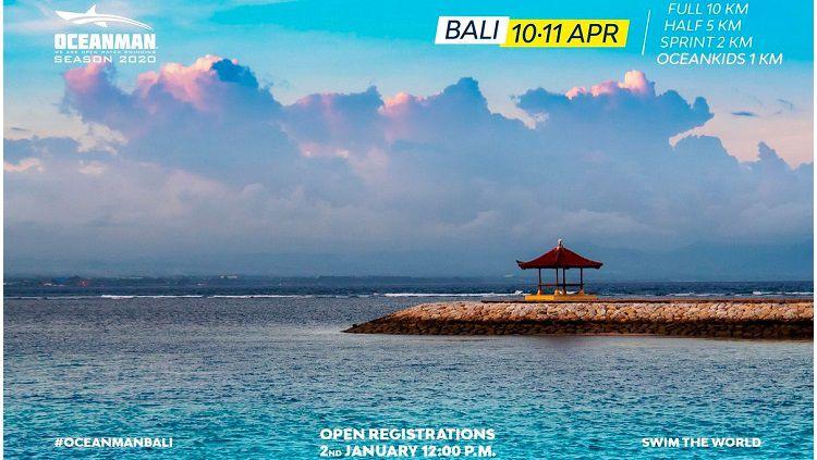 Ajang renang perairan terbuka Oceanman 2020 diundur ke 28-29 Agustus 2020 akibat virus corona. Copyright: © Oceanman 2020