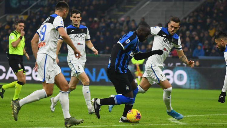 Situasi pertandingan Serie A Italia antara Inter Milan vs Atalanta Copyright: © Twitter @Inter