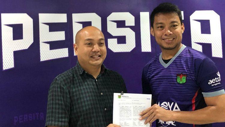 Hamka Hamzah resmi bergabung klub Liga 1 Persita Tangerang. Copyright: © Instagram/Hamka Hamzah