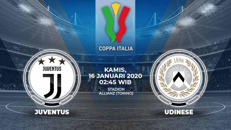 Berikut prediksi pertandingan Coppa Italia antara Juventus vs Udinese, Kamis (16/01/20). Copyright: © Grafis:Ynt/Indosport.com