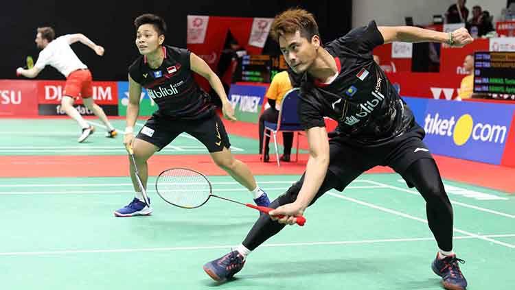 Pasangan ganda campuran Indonesia, Tontowi Ahmad/Apriyani Rahayu memutuskan untuk resmi mundur dari kejuaraan Barcelona Spain Masters 2020. Copyright: © Humas PBSI
