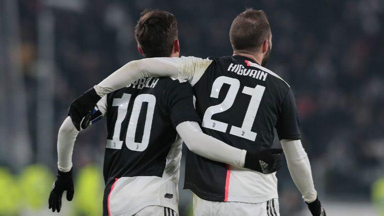 Gonzalo Higuain punya impian kembali ke Argentina dan bela klub River Plate. Apakah ini berarti Juventus bakal ditinggal satu strikernya? Copyright: © Twitter @juventusfcen