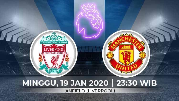 Berikut link live streaming big match pertandingan sepak bola Liga Inggris pada pekan ke-23 antara Liverpool vs Manchester United. Copyright: © Grafis:Ynt/Indosport.com
