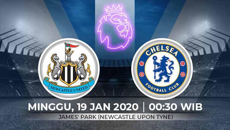 Indosport - Berikut prediksi pertandingan Liga Inggris antara Newcastle United vs Chelsea, Minggu (19/01/20).