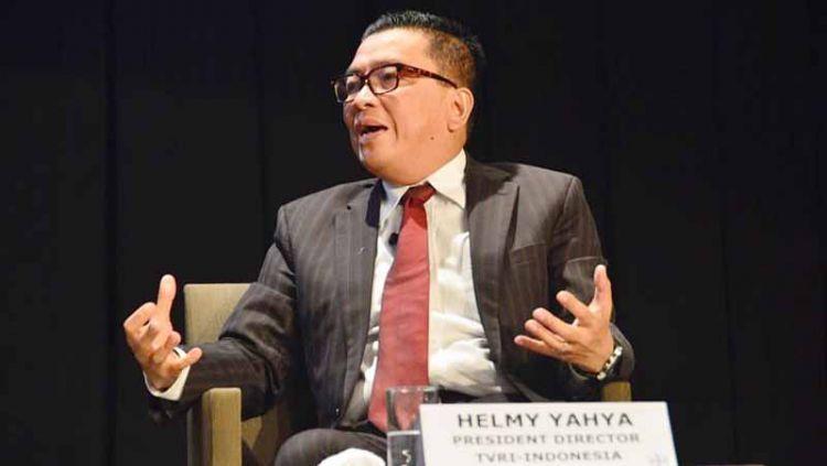 Mantan Direktur Utama LPP TVRI, Helmy Yahya buka-bukaan kepada Sandiaga Uno mengenai cara mendapat Hak Siar Liga Inggris dengan murah. Copyright: © Instagram@helmyyahya