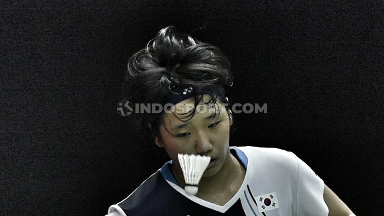 Pebulutangkis Spanyol, Carolina Marin mengalahkan pebulutangkis Korea, An Se-young pada babak perempatfinal Indonesia Masters 2020 di Istora Senayan, Jakarta, (17/01/20). Copyright: © Herry Ibrahim/INDOSPORT
