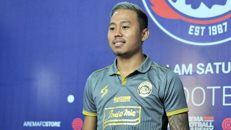Penampilan gemilang Kushedya Hari Yudo di pekan perdana Liga 1 untuk Arema FC membuatnya layak diperhitungkan untuk masuk Timnas Indonesia. Copyright: © Media Arema FC