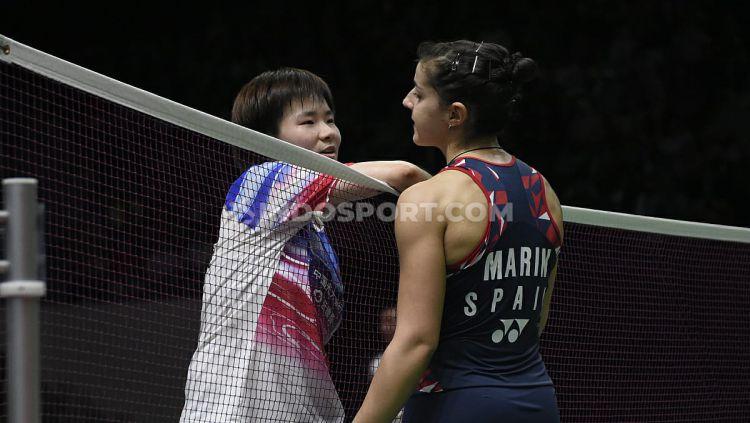 Kalah di final Denmark Open 2020, pebulutangkis tunggal putri Spanyol Carolina Marin gagal sudahi dominasi wakil Asia. Copyright: © Herry Ibrahim/INDOSPORT