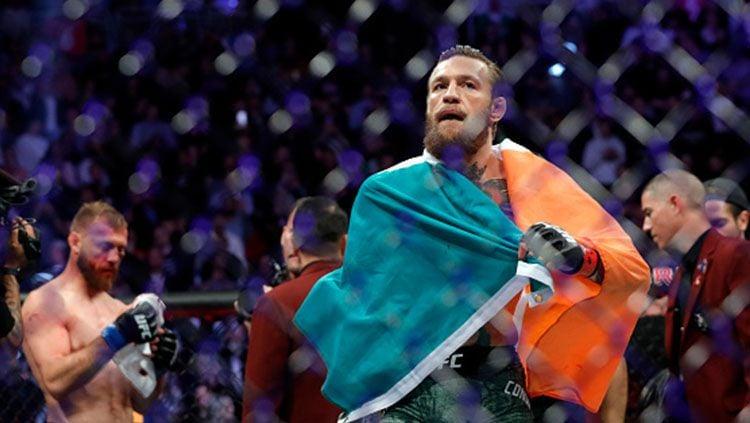 Kabar mengejutkan datang dari mantan petarung MMA, Conor McGregor yang mengumumkan bakal melawan Manny Pacquiao di atas ring tinju. Copyright: © Steve Marcus/Getty Images