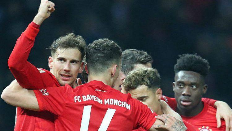Hasil Pertandingan Bundesliga Jerman Hertha Berlin vs Bayern Munchen: Die Roten Mengamuk. Copyright: © Twitter @FCBayern