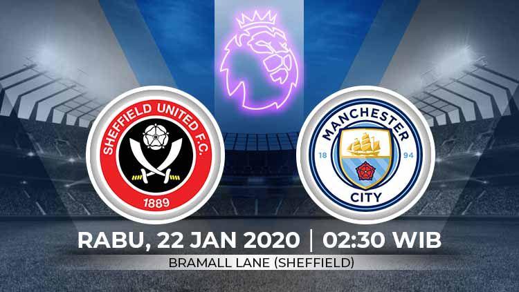 Prediksi pertandingan antara Sheffield United vs Manchester City (Liga Primer). Copyright: © Grafis:Ynt/Indosport.com