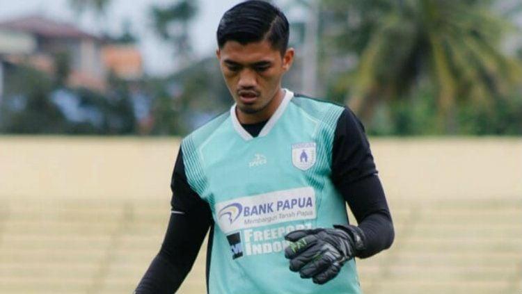 Kiper muda klub Liga 1 Persipura, Fitrul Dwi Rustapa. Copyright: © Galeri Persipura