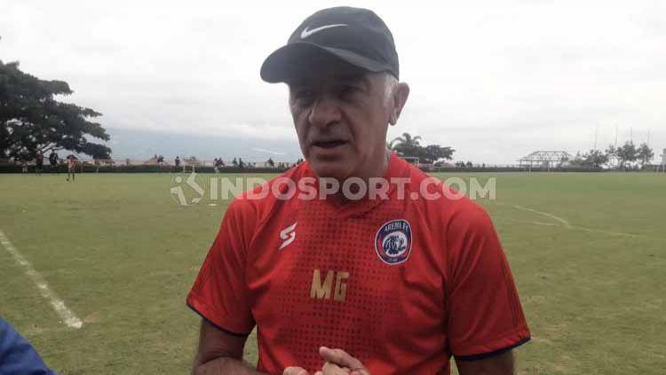 Pelatih Borneo FC asal Argentina, Mario Gomez. Copyright: © Ian Setiawan/INDOSPORT
