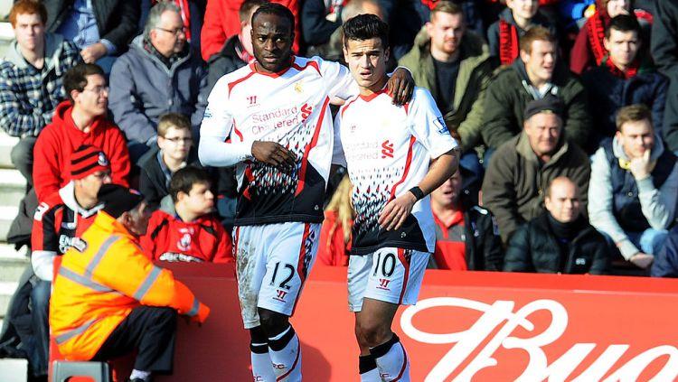 Victor Moses dan Philippe Coutinho ketika masih membela Liverpool. Copyright: © John Powell/Liverpool FC via Getty Images