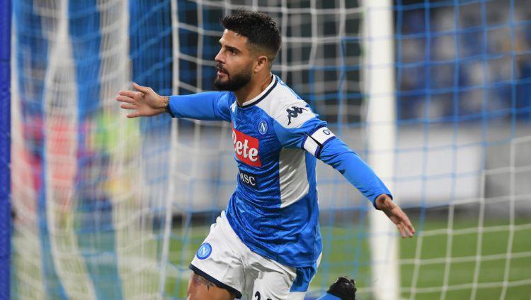 Striker Napoli, Lorenzo Insigne memiliki tinggi badan di bawah 170cm, namun mempunyai kemampuan olah bola yang sangat memukau. Copyright: © Francesco Pecoraro/Getty Images