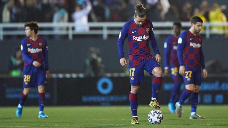 ivaldo menyimpan segudang pertanyaan melihat buruknya permainan Antoine Griezmann di Barcelona. Copyright: © Quality Sport Images/Getty Images