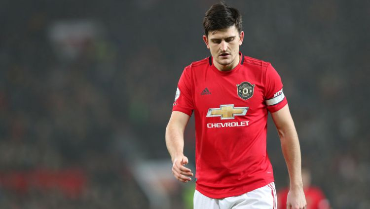 Harry Maguire di laga Liga Inggris antara Manchester United vs Burnley Copyright: © Alex Livesey/Getty Images