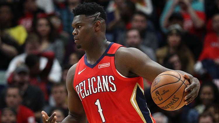 Zion Williamson, bintang basket anyar milik New Orleans Pelicans. Copyright: © Chris Graythen/GettyImages
