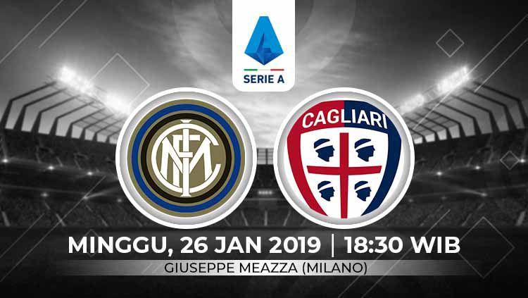 Prediksi pertandingan Serie A Italia antara Inter Milan vs Cagliari, sepertinya akan jadi momentum Nerazzurri untuk meraih kebangkitan. Copyright: © Grafis:Ynt/Indosport.com