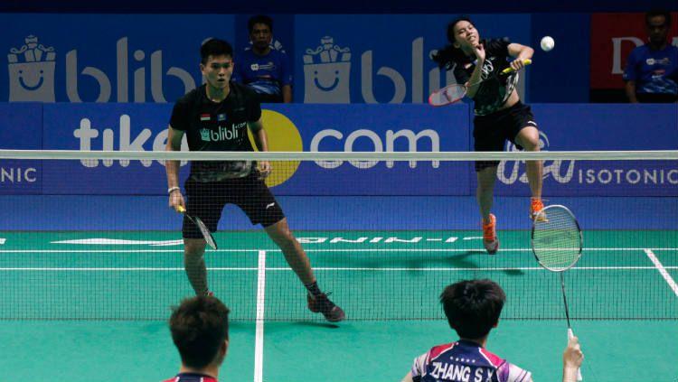 Adnan Maulana/Mychelle Crhystine Bandaso bertemu wakil Malaysia, Chang Peng Soon/Goh Liu Ying di Thailand Open. Berikut hasil pertandingannya. Copyright: © Badminton Indonesia