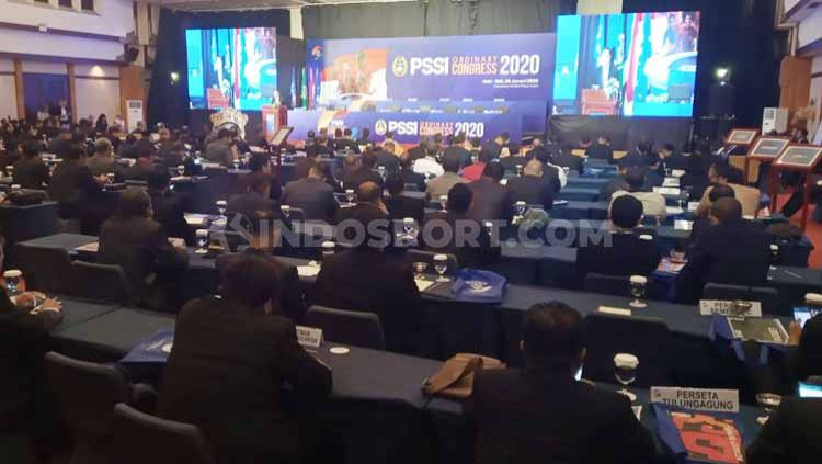 Pembukaan kongres tahunan PSSI oleh ketua umum Mocahamd Iriawan tahun 2020 lalu. Copyright: © Nofik Lukman Hakim/INDOSPORT