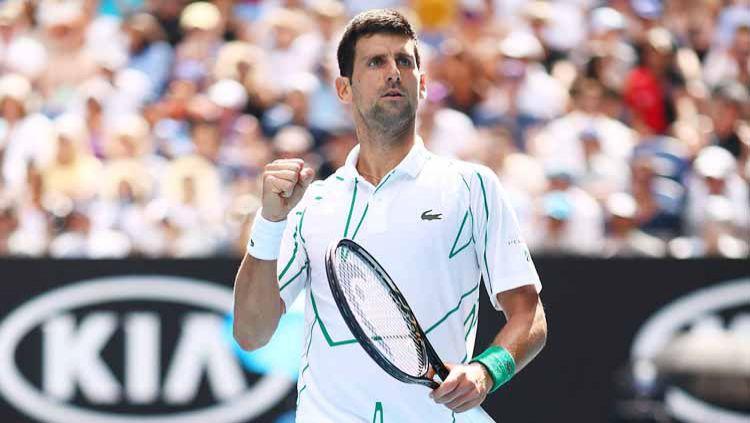 Djokovic melaju ke perempatfinal Australia Terbuka 2020 usai menumbangkan Diego Schwartzman. Copyright: © Cameron Spencer/Getty Images