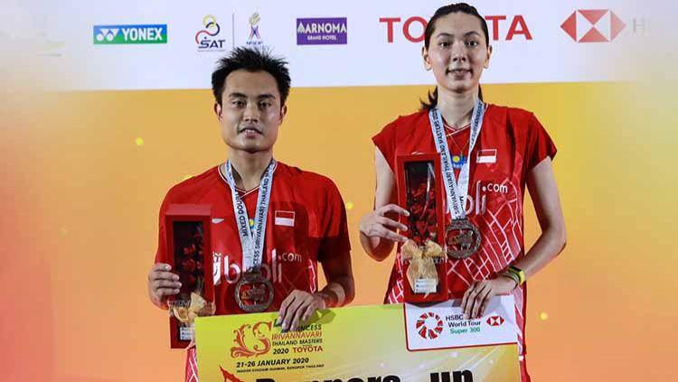 Ganda campuran Indonesia, Hafiz Faizal/Gloria Emanuelle Widjaja berhasil menggondol hadiah cukup fantastis usai menjadi runner-up di Thailand Masters 2020. Copyright: © Humas PBSI