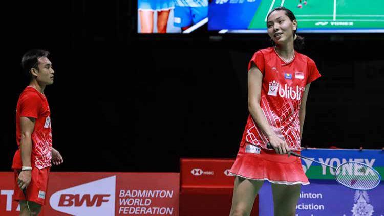 Hafiz Faizal/Gloria Emanuelle Widjaja sempat menghadirkan harapan juara di Thailand Masters 2020. Namun, mereka gagal karena faktor mental. Copyright: © Humas PBSI