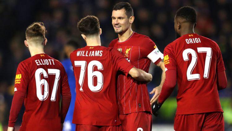 Liverpool berpotensi menyamai rekor pribadinya yang telah bertahan selama 125 tahun saat menghadapi West Ham United di Liga Inggris 2019-2020. Copyright: © Catherine Ivill/Getty Images
