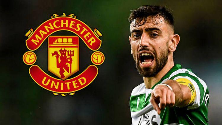 Manchester United tampaknya mulai menunjukkan taringnya di bursa transfer musim dingin 2019/2020 untuk mendatangkan Bruno Fernandes. Copyright: © Goal