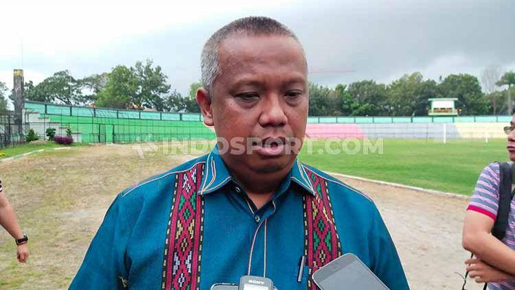 Penanggungjawab klub sekaligus Manajer PSMS Medan, Mulyadi Simatupang. Copyright: © Aldi Aulia Anwar/INDOSPORT