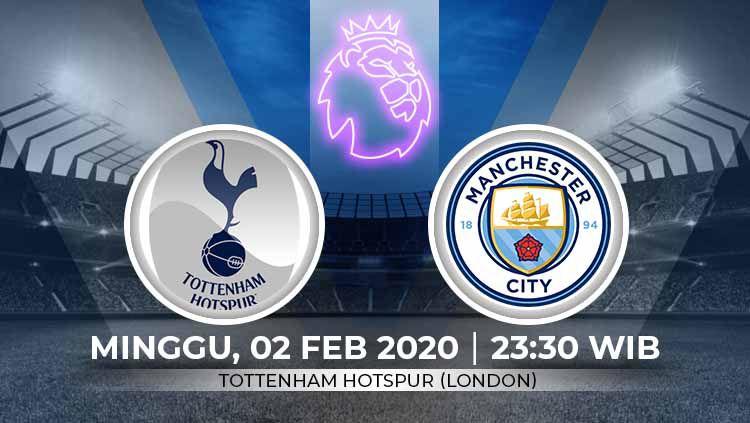 Pertandingan antara TTottenham Hotspur vs Manchester City (Liga Primer). Copyright: © Grafis:Ynt/Indosport.com