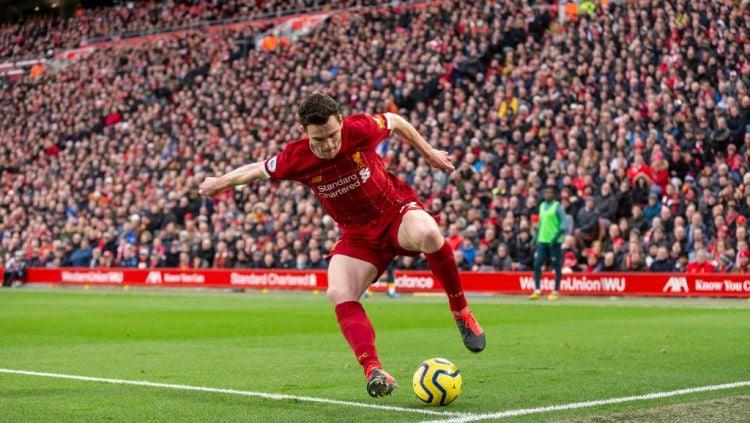 Andrew Robertson dalam laga Liverpool vs Southampton Copyright: © Daniel Chesterton/Offside/Offside via Getty Images