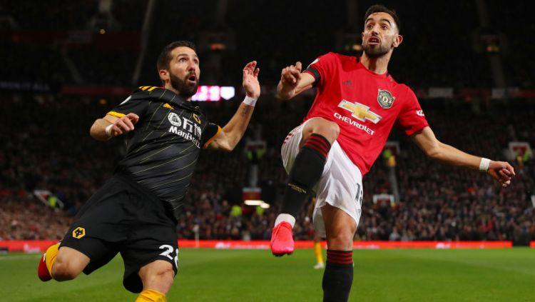 Bruno Fernades disebut sebagai penyebab Manchester United gagal dapatkan bintang baru dari Wolverhampton Wanderers, Diogo Jota. Copyright: © Matthew Ashton - AMA/Getty Images