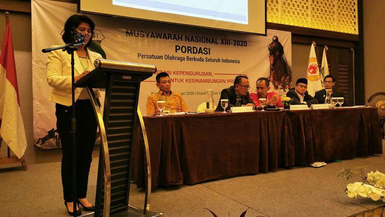 Triwatty Marciano ditetapkan sebagai Ketum PP Pordasi periode 2020-2024. Copyright: © PP Pordasi