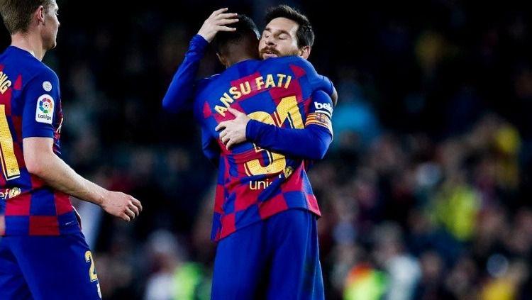 Gagalkan minat Manchester United dapatkan 'Lionel Messi,' raksasa LaLiga Spanyol, Barcelona pecahkan rekor kontrak demi pagari Ansu Fati. Copyright: © fcbarcelona.com