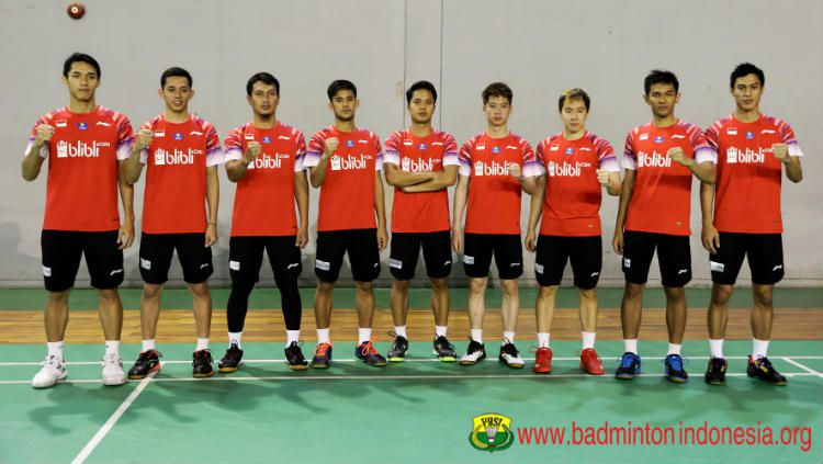 Berikut susunan pemain tim beregu putra Indonesia di babak final Badminton Asia Team Championships 2020 (BATC) yang akan dilangsungkan pada Minggu (16/2/20). Copyright: © Twitter/BadmintonINA