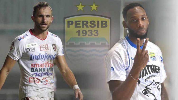 Membandingkan statistik Ilija Spasojevic dan Geoffrey Castillion, sepertinya bisa memberikan gambaran soal sosok penyerang yang akan dipilih Persib Bandung untuk mengarungi gelaran Liga 1 2020 mendatang. Copyright: © Grafis:Ynt/Indosport.com