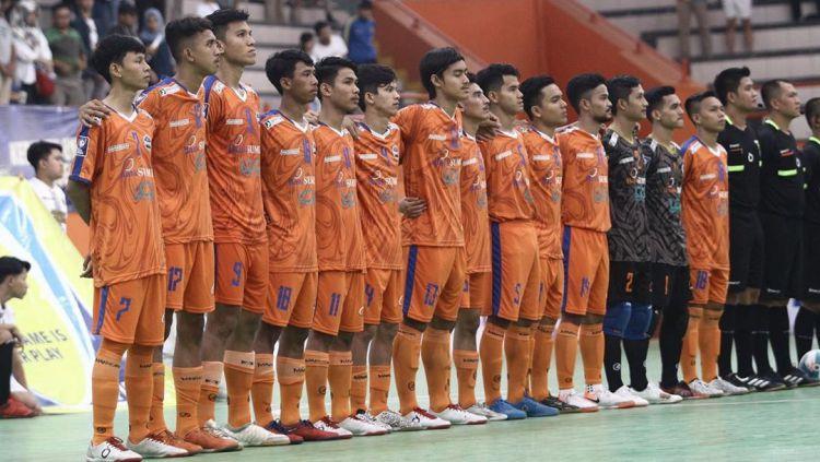 Pro Futsal League (PFL) 2020 pekan keempat Grup B yang digelar di Medan selama dua hari di Gedung Serbaguna Pemprov Sumatera Utara (Sumut), resmi berakhir. Copyright: © Instagram @banksumutcabkormdn)