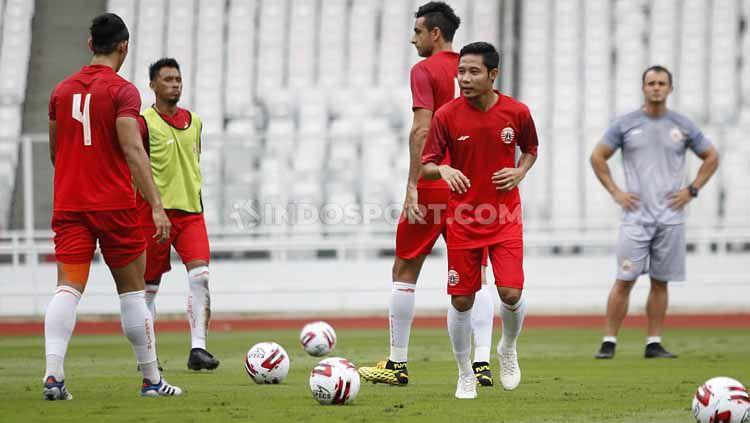 Evan Dimas, Ryuji Utomo (krir) beberapa pemain Persija yang diisukan diminati oleh klub-klub luar negeri. Copyright: © Herry Ibrahim/INDOSPORT