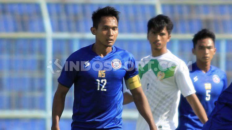 Gelandang klub Liga 1,  Arema FC, Hendro Siswanto. Copyright: © Ian Setiawan/INDOSPORT