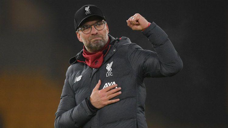 Mencatatkan banyak rekor sepanjang musim ini, Jurgen Klopp bersama Liverpool nyatanya belum bisa melampaui catatan rekor milik Chelsea. Copyright: © Twitter.com/@LFC