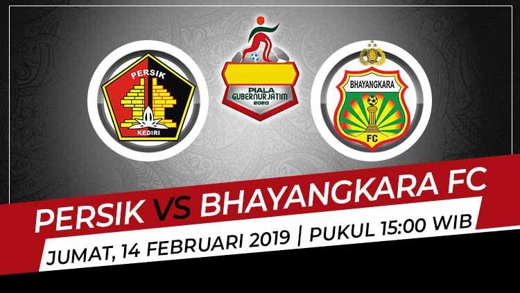 Berikut ini merupakan hasil pertandingan Piala Gubernur Jatim 2020 antara Persik Kediri vs Bhayangkara FC, Jumat (14/02/20) dari Stadion Gelora Bangkalan, Madura. Copyright: © Grafis:Ynt/Indosport.com
